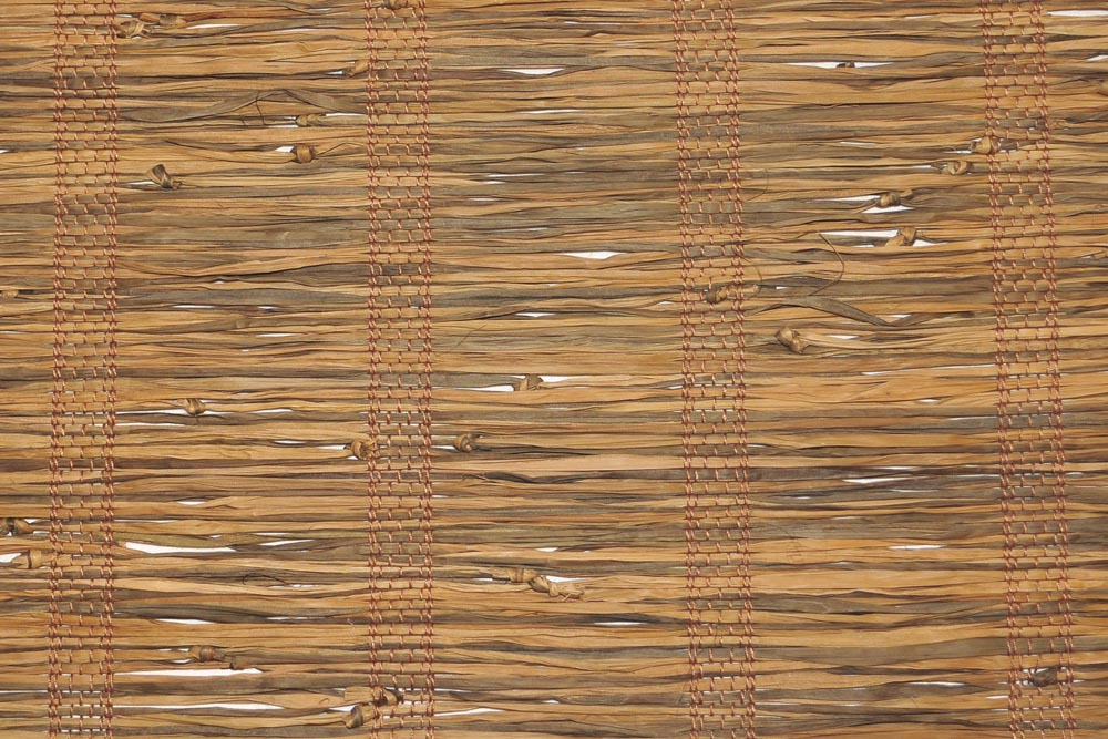 Natural Fiber Window Treatments Part - 17: Natural Palm Fiber Warp Thread Color: Warm Brown ...